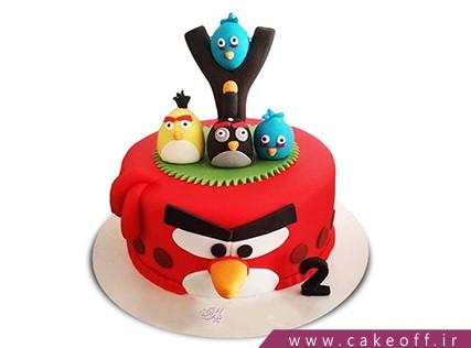 کیک تولد بچه گانه - کیک انگری بردز 17 | کیک آف