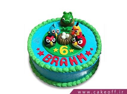کیک تولد بچه گانه - کیک انگری بردز 16 | کیک آف