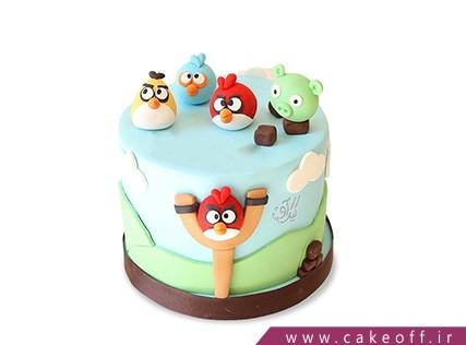کیک تولد بچه گانه - کیک انگری بردز 15 | کیک آف
