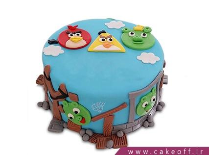 کیک تولد بچه گانه - کیک انگری بردز 14 | کیک آف