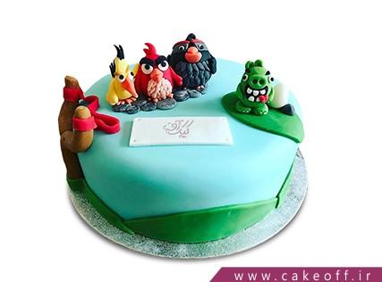 کیک تولد بچه گانه - کیک انگری بردز 12 | کیک آف