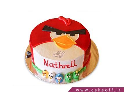 کیک تولد بچه گانه - کیک تولد انگری بردز 9 | کیک آف