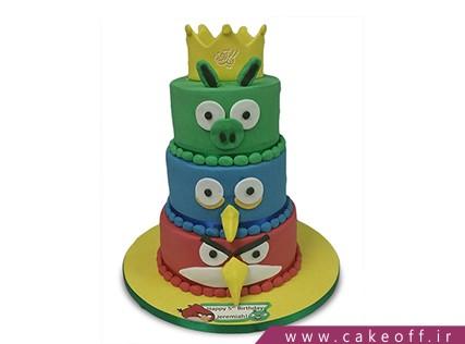 کیک تولد بچه گانه - کیک تولد انگری بردز 7 | کیک آف