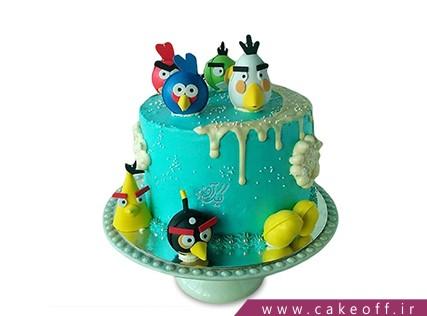 کیک تولد بچه گانه - کیک تولد انگری بردز 6 | کیک آف