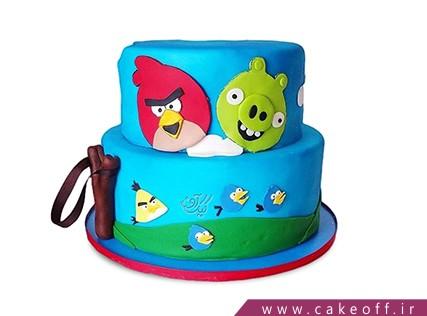 کیک بچه گانه - کیک تولد انگری بردز 5 | کیک آف