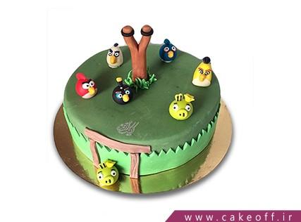 کیک بچه گانه - کیک تولد انگری بردز 3 | کیک آف