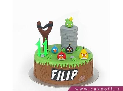 کیک بچگانه - کیک تولد انگری بردز 2 | کیک آف
