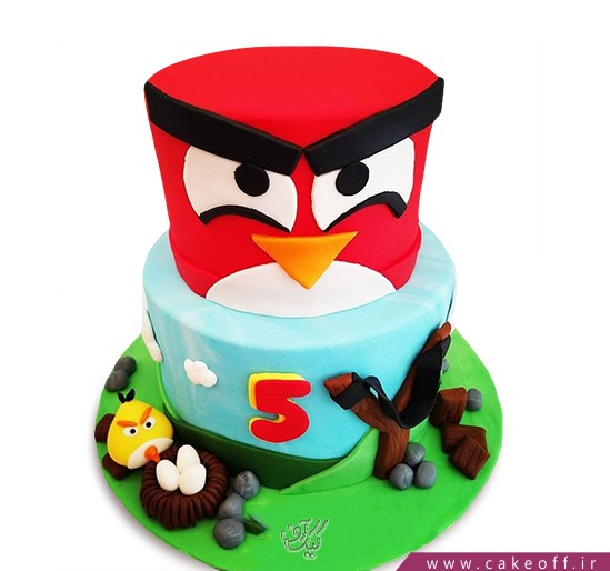کیک تولد بچگانه - کیک انگری بردز 26 | کیک آف