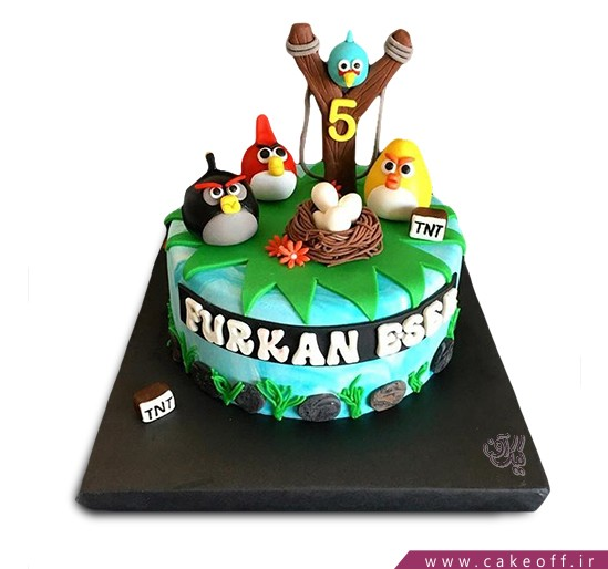 کیک تولد بچه گانه - کیک انگری بردز 11 | کیک آف