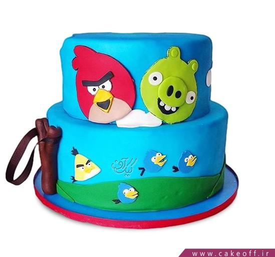 کیک تولد انگری بردز 5