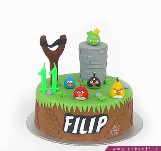 کیک تولد انگری بردز 2