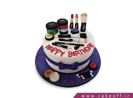 کیک زنانه - کیک لوازم آرایش 1 | کیک آف