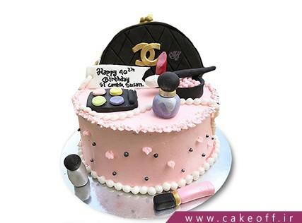 کیک تولد زنانه - کیک لوازم آرایش 2 | کیک آف