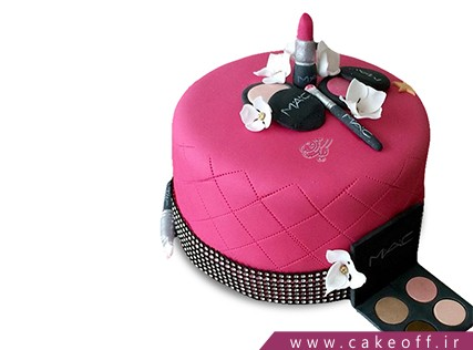 کیک تولد زنانه - کیک لوازم آرایش 3 | کیک آف