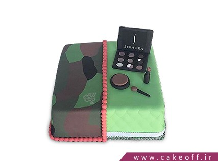 کیک زنانه - کیک لوازم آرایش 4 | کیک آف