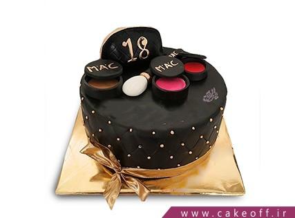 کیک زنانه - کیک لوازم آرایش 5 | کیک آف