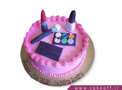 کیک زنانه - کیک لوازم آرایش 7 | کیک آف