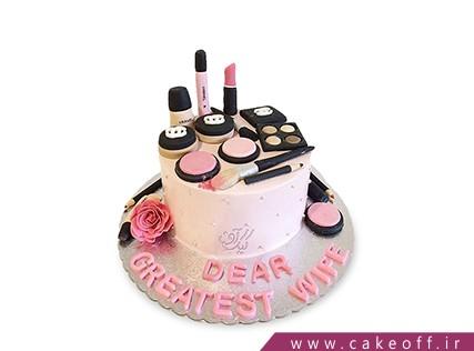 کیک تولد زنانه - کیک لوازم آرایش 8 | کیک آف