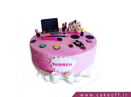 کیک تولد زنانه - کیک لوازم آرایش 9 | کیک آف