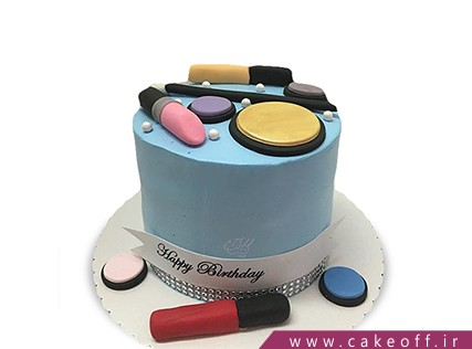 کیک تولد زنانه - کیک لوازم آرایش 12 | کیک آف