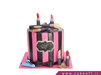 کیک تولد دخترانه - کیک لوازم آرایش 13 | کیک آف