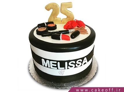 کیک تولد دخترانه - کیک لوازم آرایش 14 | کیک آف