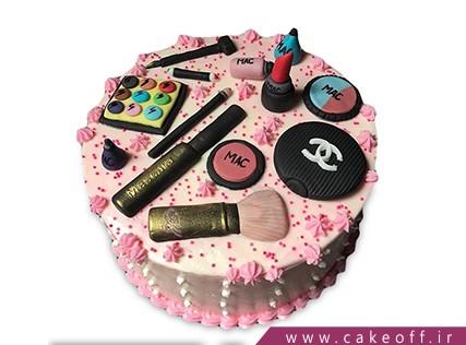 کیک تولد دخترانه - کیک لوازم آرایش 15 | کیک آف