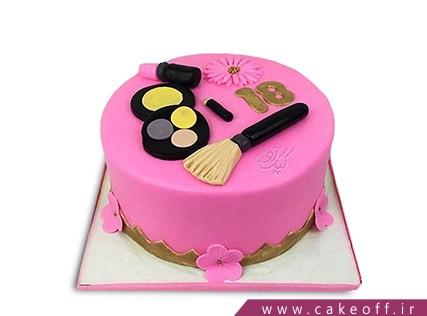 کیک تولد دخترانه - کیک لوازم آرایش 16 | کیک آف