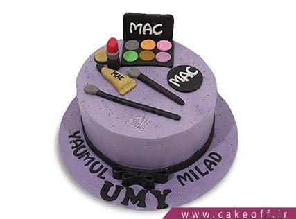 کیک تولد دخترانه - کیک لوازم آرایش 17 | کیک آف