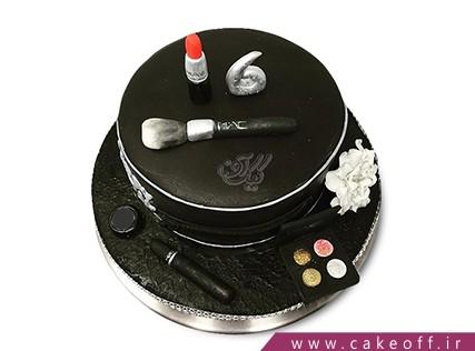 کیک تولد دخترانه - کیک لوازم آرایش 18 | کیک آف