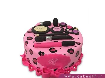 کیک تولد دخترانه - کیک لوازم آرایش 20 | کیک آف