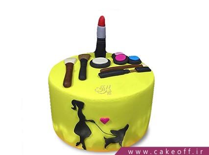 کیک تولد دخترانه - کیک لوازم آرایش 21 | کیک آف