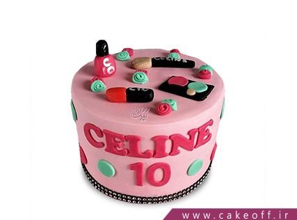 کیک دخترانه - کیک لوازم آرایش 23 | کیک آف