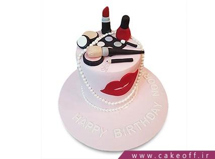 کیک تولد دخترانه - کیک لوازم آرایش 19 | کیک آف