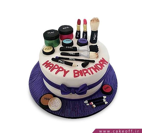 کیک زنانه - کیک لوازم آرایش ۱ | کیک آف