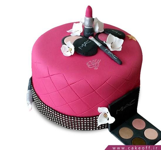 کیک تولد زنانه - کیک لوازم آرایش ۳ | کیک آف