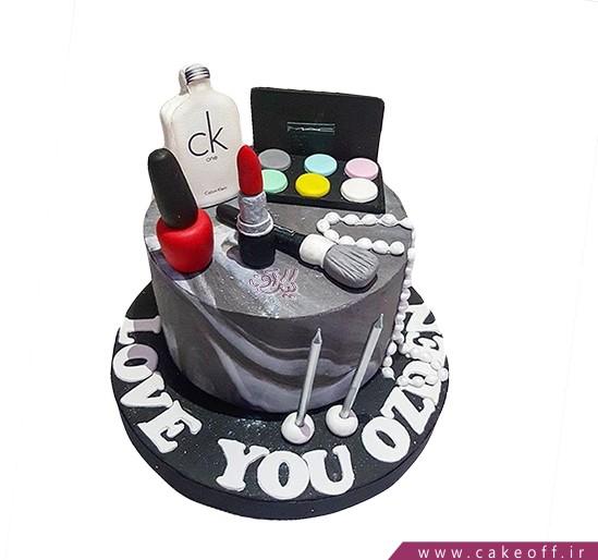 کیک زنانه - کیک لوازم آرایش ۶ | کیک آف