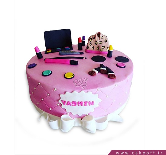 کیک تولد زنانه - کیک لوازم آرایش ۹ | کیک آف