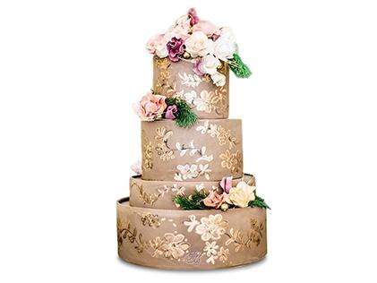 سفارش کیک عقد و عروسی - کیک آریا فر | کیک آف