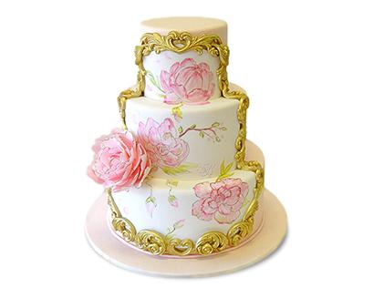 کیک عقد و عروسی - کیک عقد و عروسی افسون | کیک آف