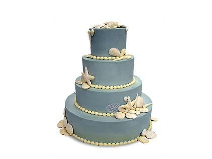 سفارش کیک عقد و عروسی - کیک عروس آبی | کیک آف