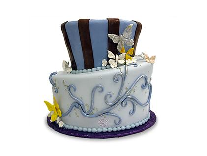 کیک عقد و عروسی افسون شاپرک | کیک آف