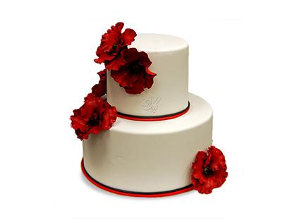 سفارش کیک عقد و عروسی - کیک شقایق | کیک آف