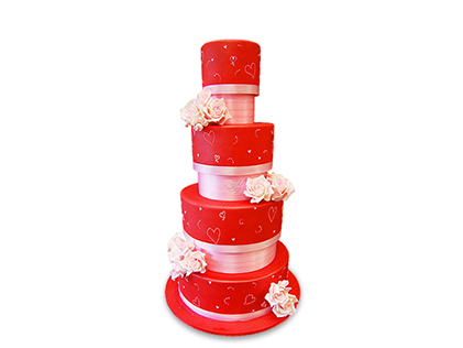 کیک عقد و عروسی آذر مینا | کیک آف