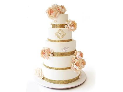 سفارش کیک عقد و عروسی و نامزدی - کیک عروسی آلاله | کیک آف