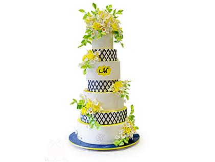 کیک عقد و عروسی گلچهره | کیک آف