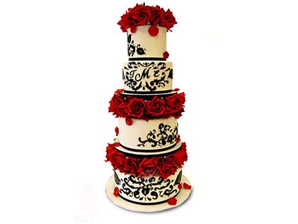کیک عروسی گلزاد | کیک آف
