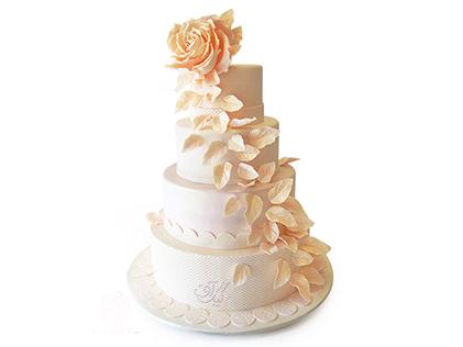 کیک عروسی - کیک گلشید | کیک آف