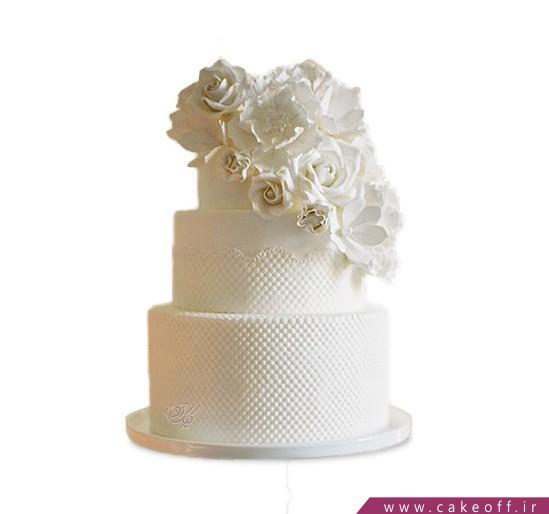 کیک عقد و عروسی - کیک سپید گل | کیک آف