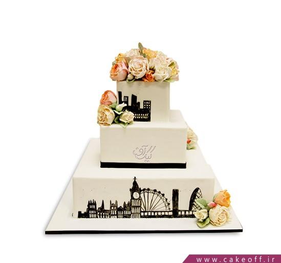 کیک عروسی - کیک شهر گل ها | کیک آف